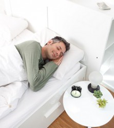 Image of young man asleep